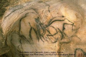 Mammoth cave painting